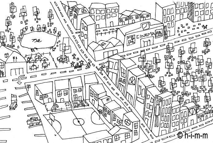 Dessin village - Village dessin ...
