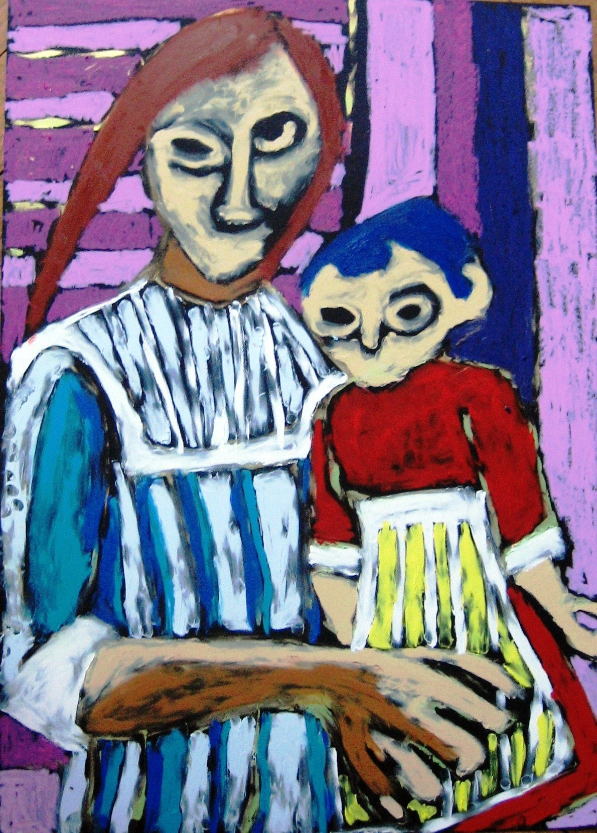 Fille et sa poupée