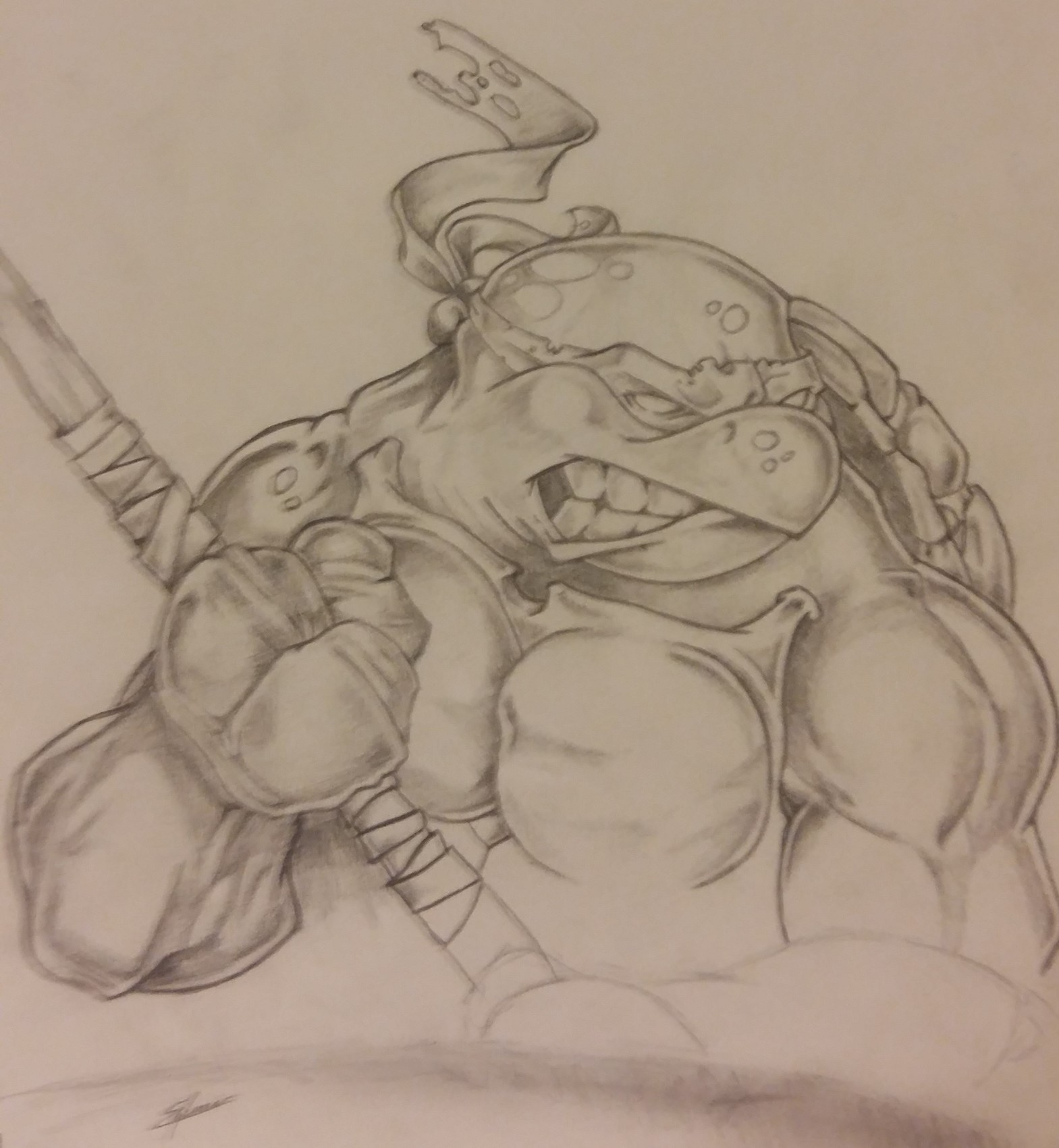 Tortue ninja - crayon papier n°3