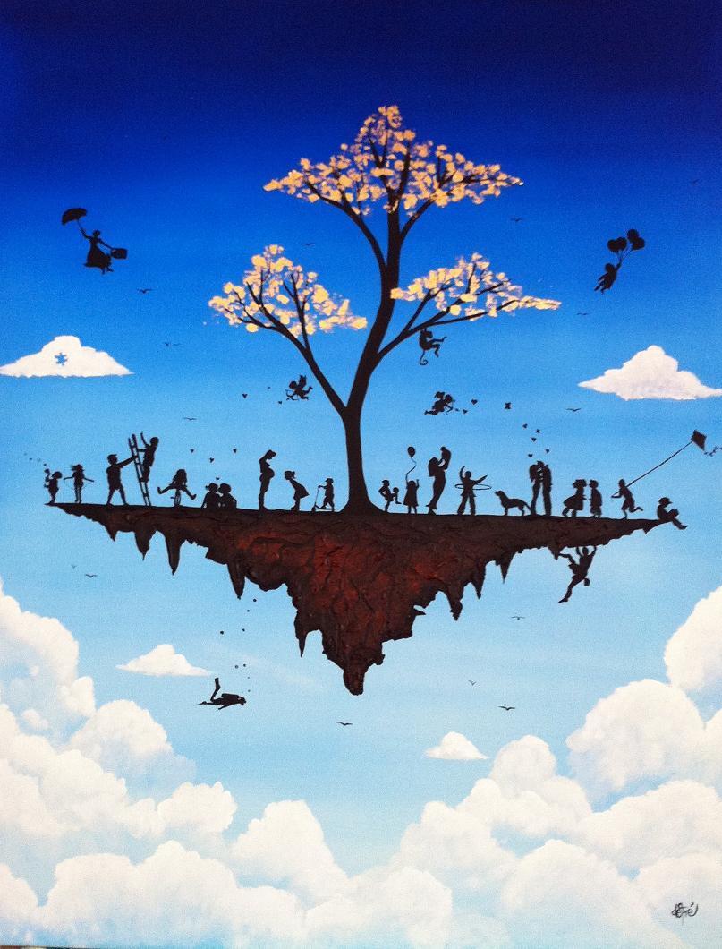 Peinture defré entre terre et ciel 2011