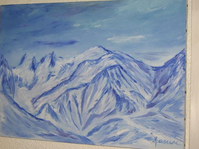 Mont-Blanc bleu blanc