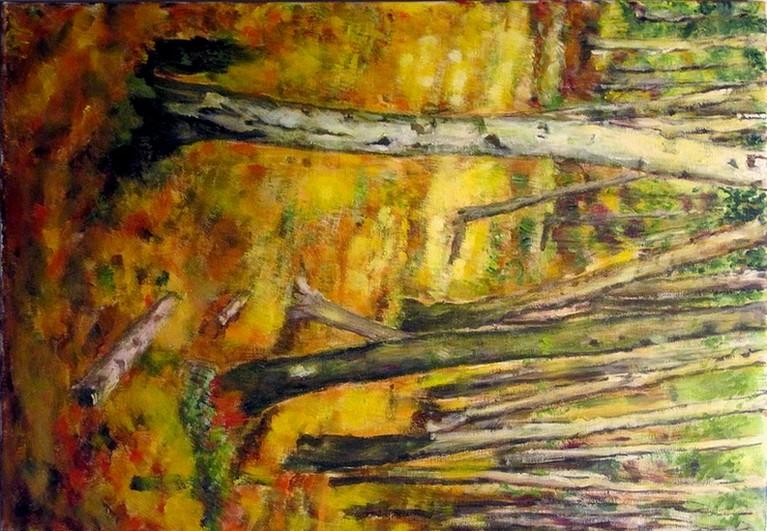 Peinture sous bois automne - Sous bassement en bois ...