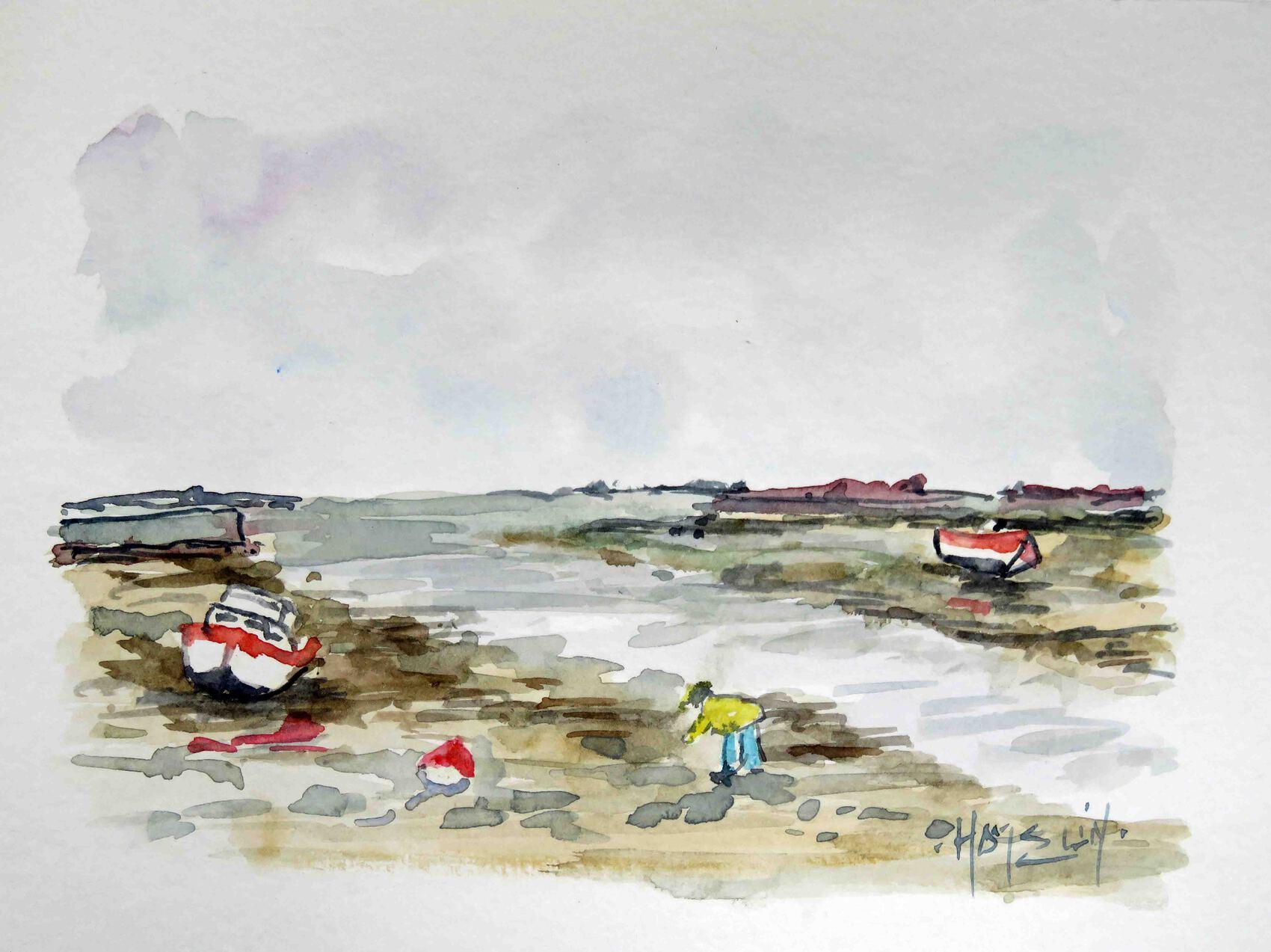 Marée basse à Kerity