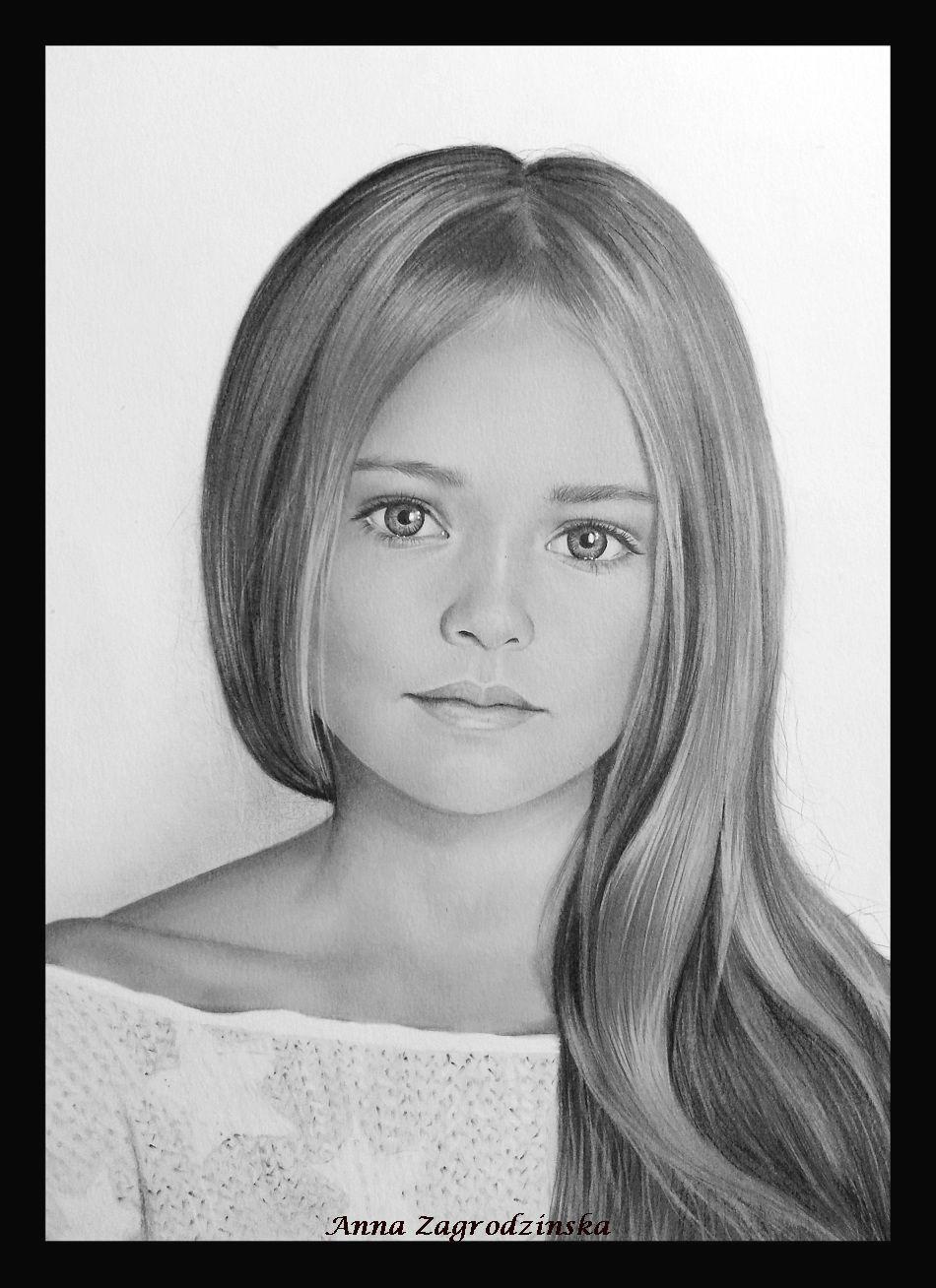 Dessin dessin portrait d 39 une fille - Dessins de filles ...