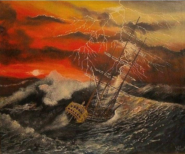 L'orage en mer