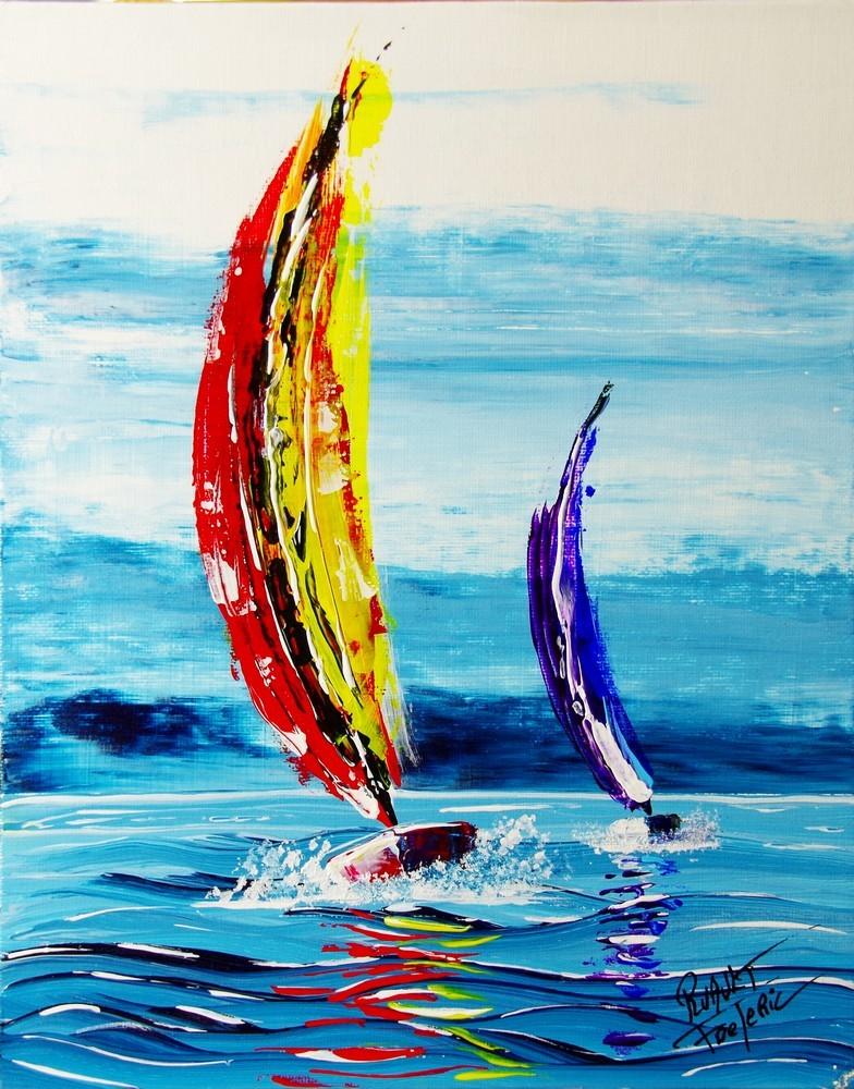 Voilier En Peinture Abstraite,Jusqu À 76%