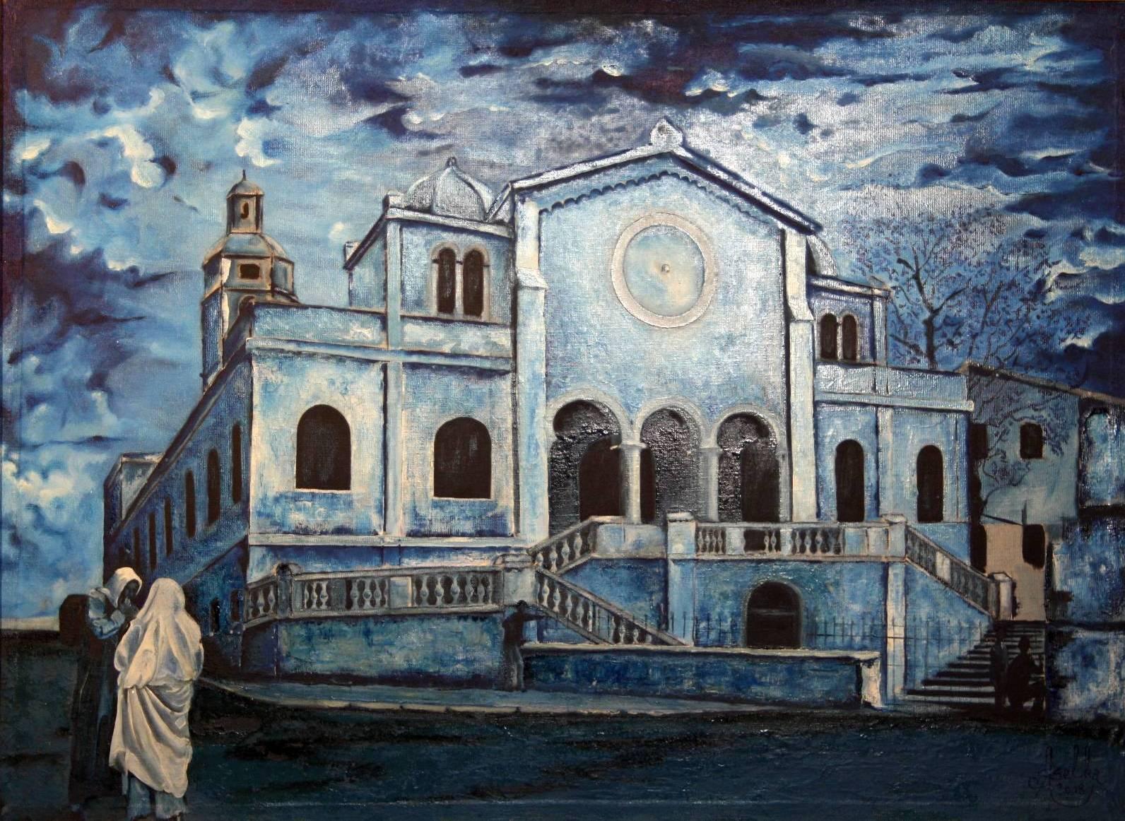 Peinture l 39 glise saint louis oran alg rie for Peinture satinee algerie prix