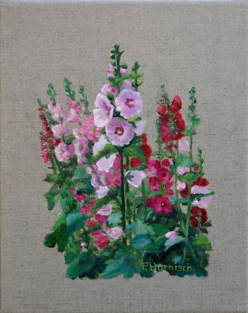 Peinture roses tr mi res - Planter des roses tremieres ...