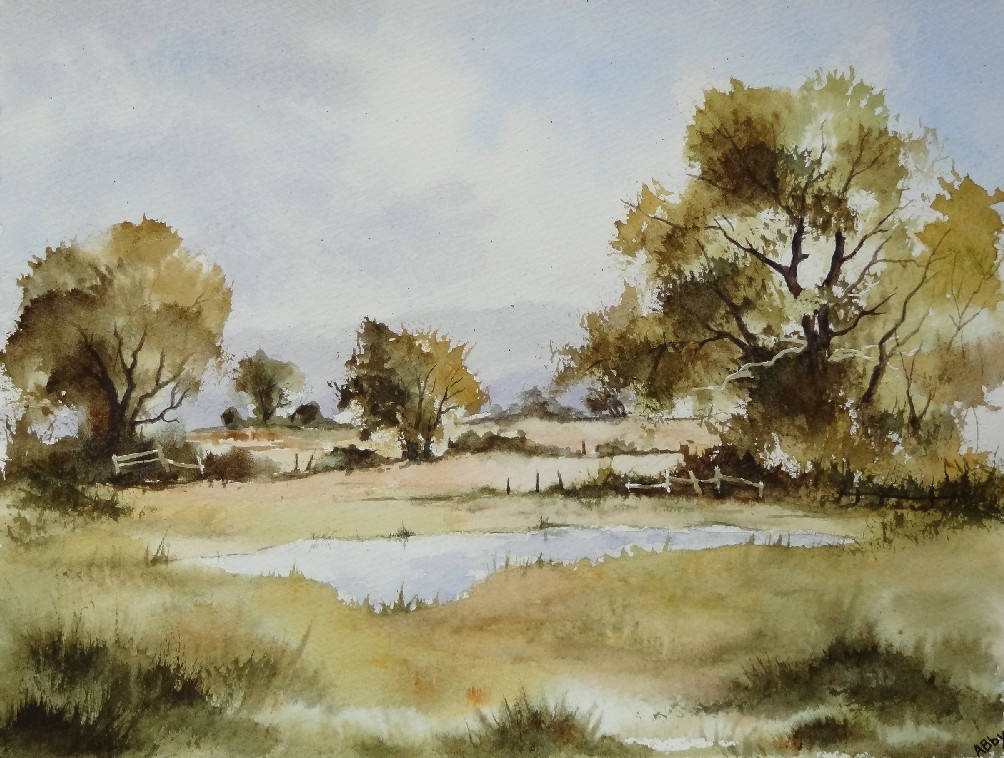 Peinture campagne anglaise d 39 apr s joe hush for Campagne anglaise