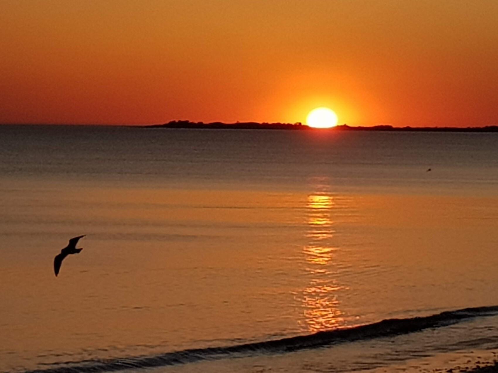 Coucher de soleil sur l'ile de ré