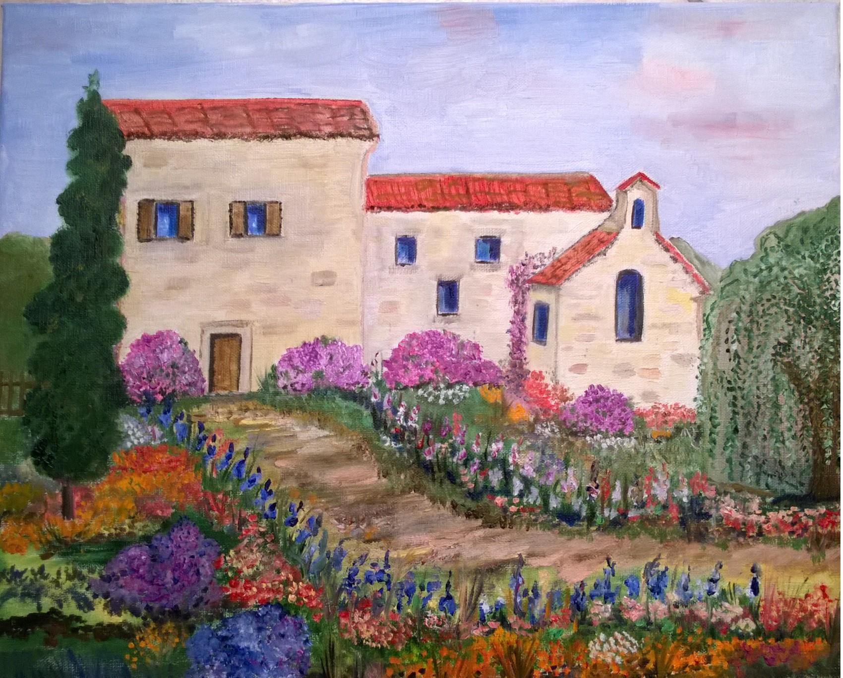 Peinture jardin fleuri for Jardin fleuri