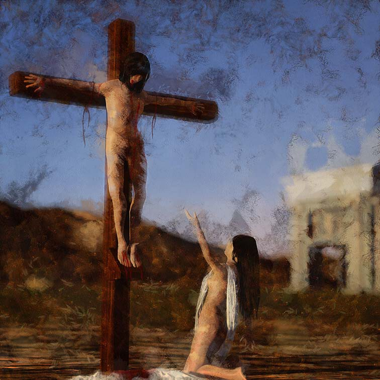 L'homme sur la croix