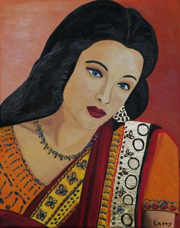 Peinture Lamy Femme Indienne