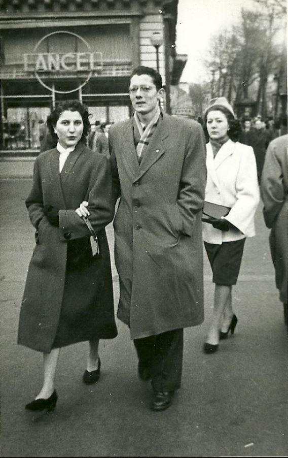 Texier de Pélussin et son épouse à PARIS en 1950