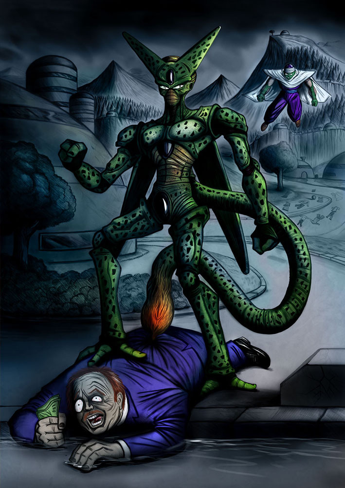 Cell meets Piccolo
