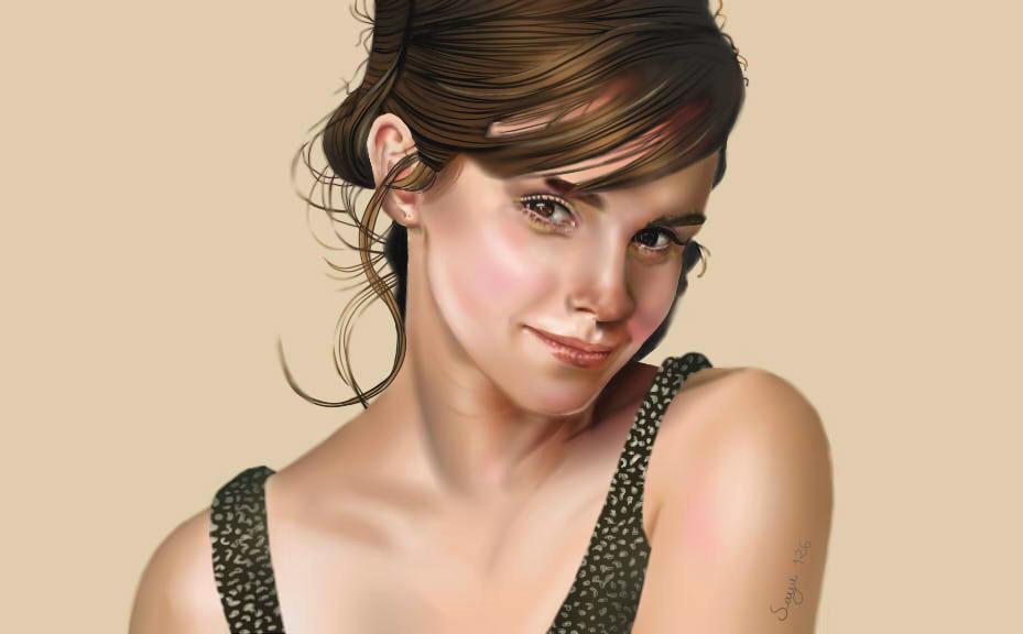peinture Emma Watson