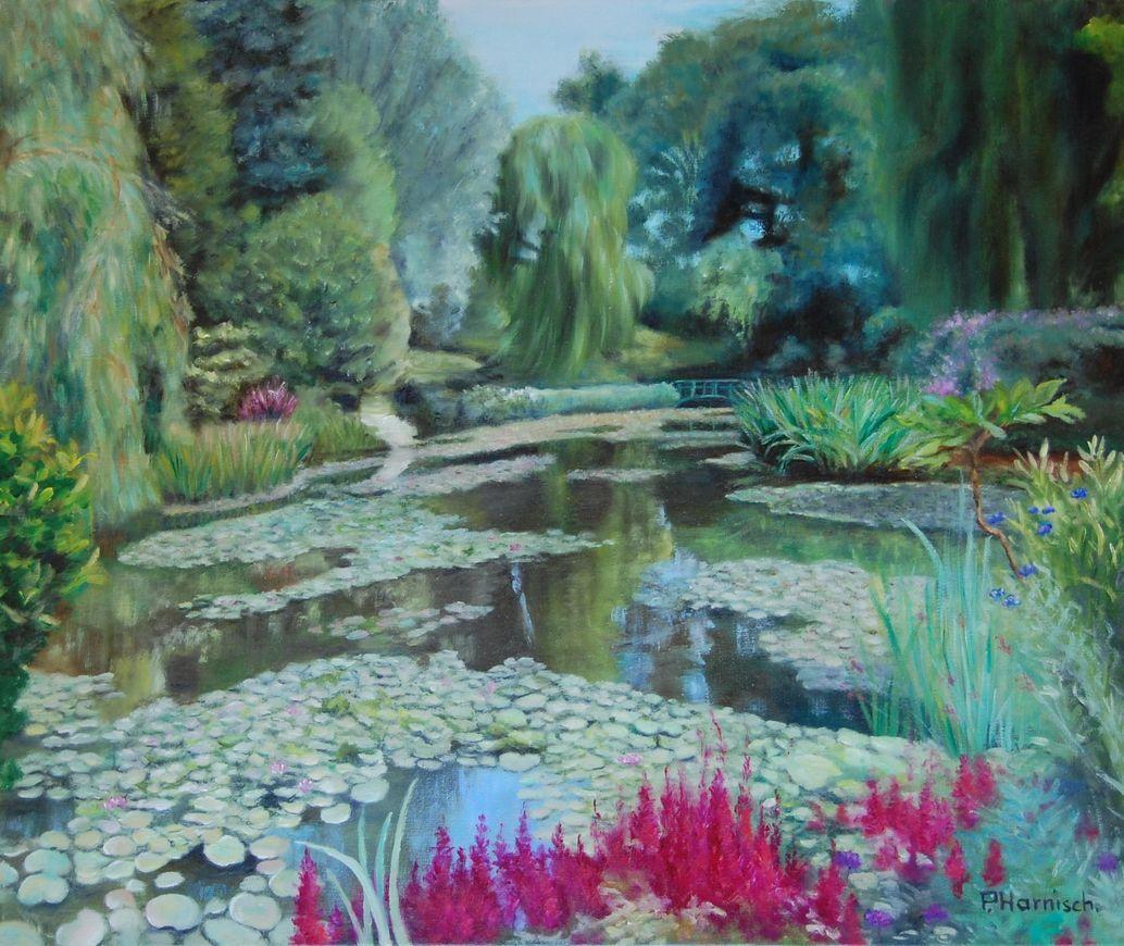 Peinture au jardin de monet for Jardin lamartine