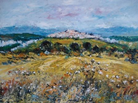 peinture village du luberon