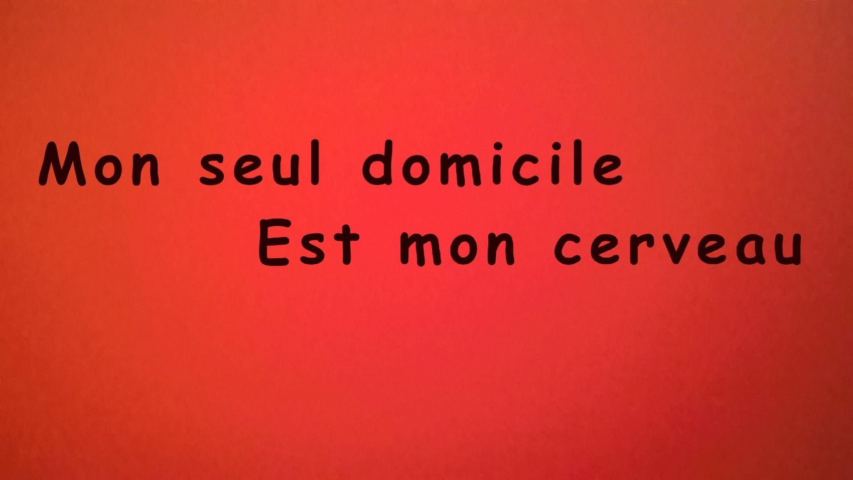 MON SEUL DOMICILE