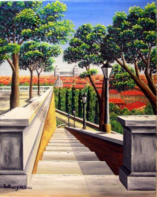 ROMA-Scalinata del Pincio 43-2004