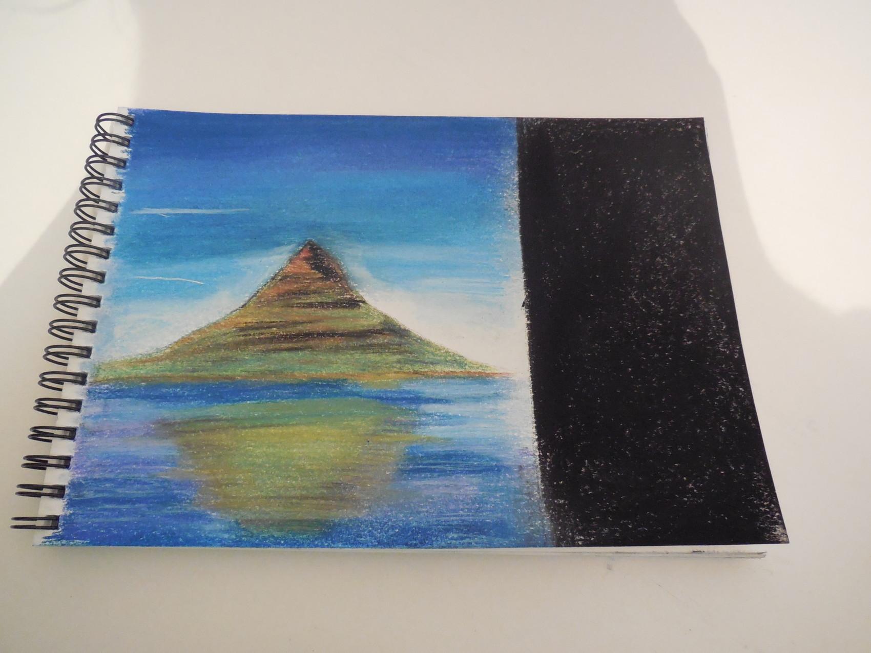 Peinture premier essai au pastel sec - Peinture au pastel sec ...