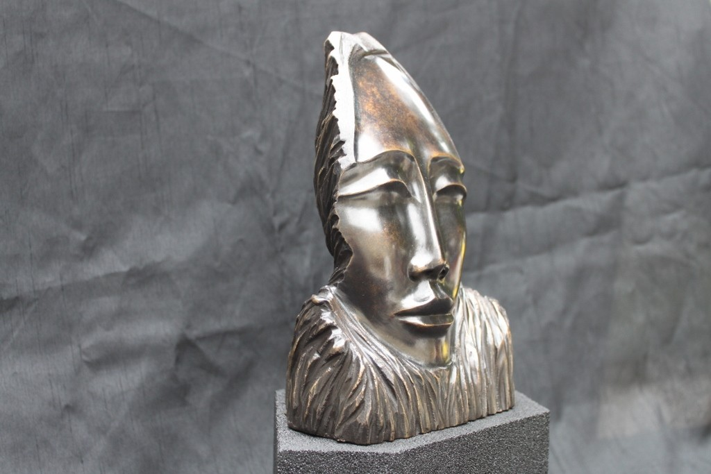 Sculpture masque en bronze2