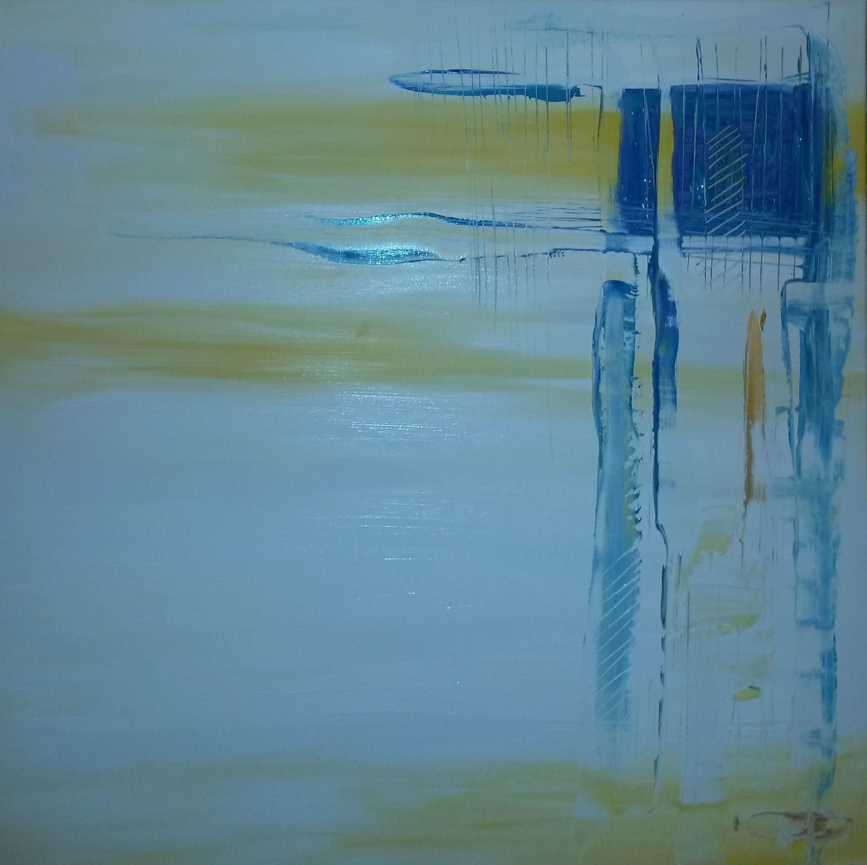 Peinture cabane de p cheur l 39 aiguillon sur mer - La cabane de l aiguillon ...