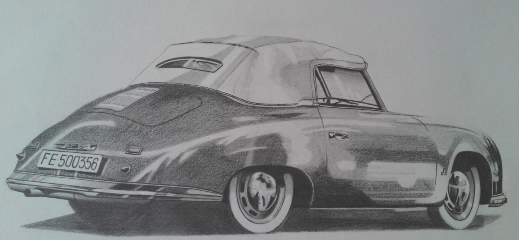 Dessin porsche 356 for Plans de dessins de porche