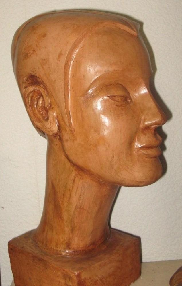 buste de femme, stylisé.
