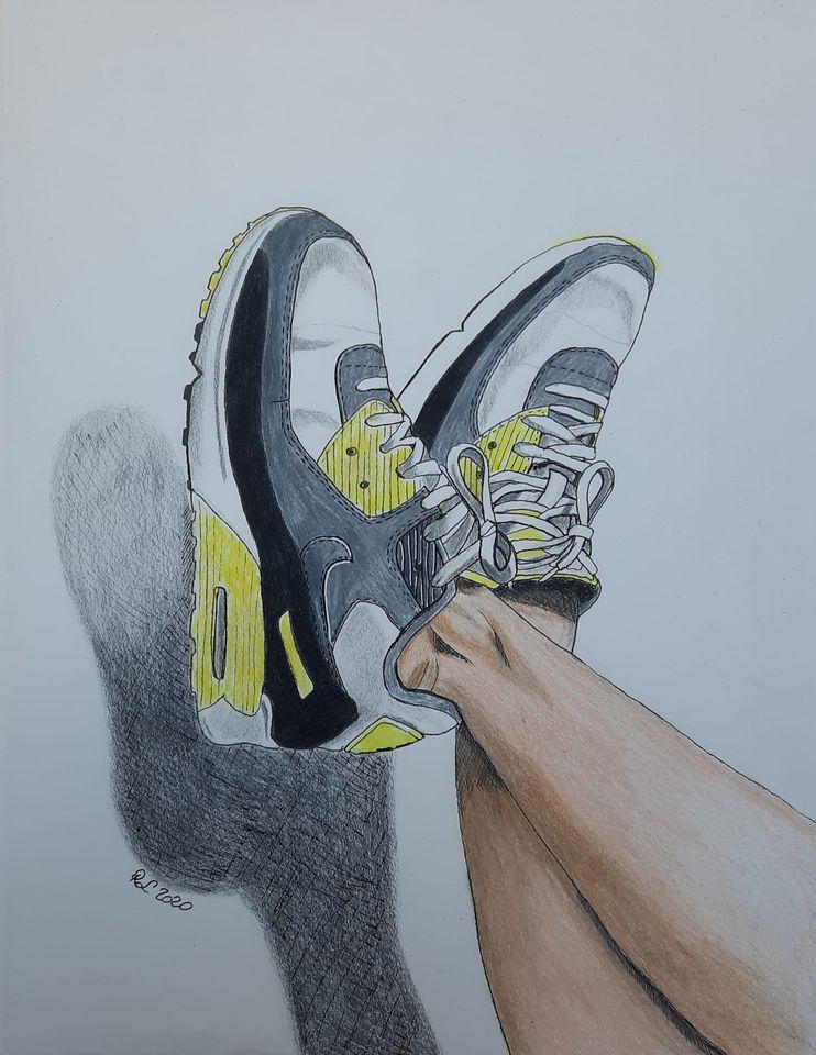 Sneakers sketching