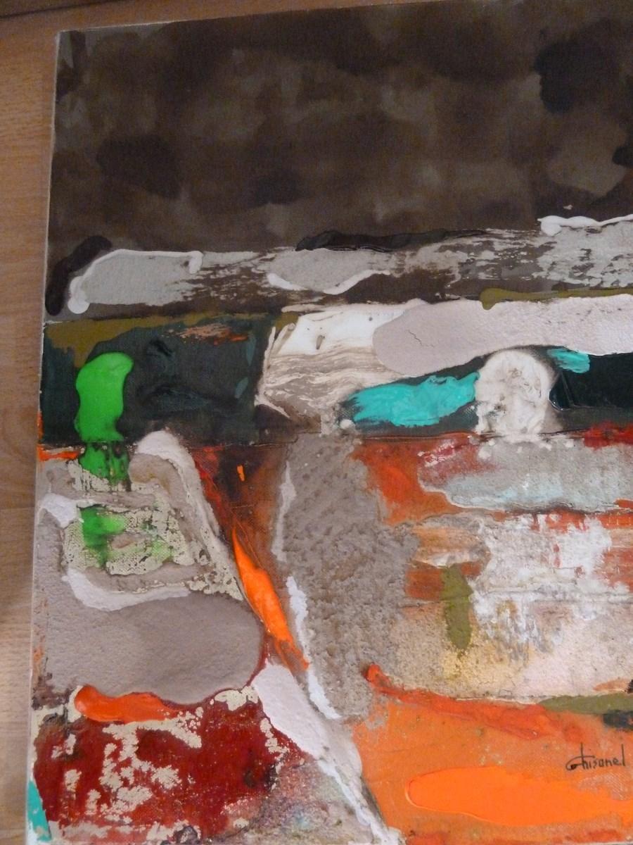 Peinture champs oranges for Peinture conceptuelle