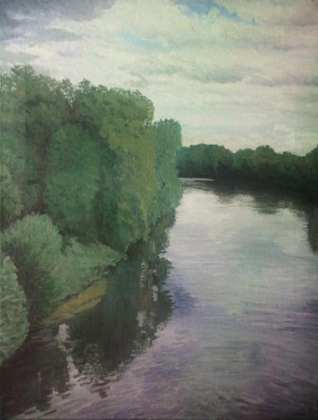 La Seine, vue du pont de Bougival