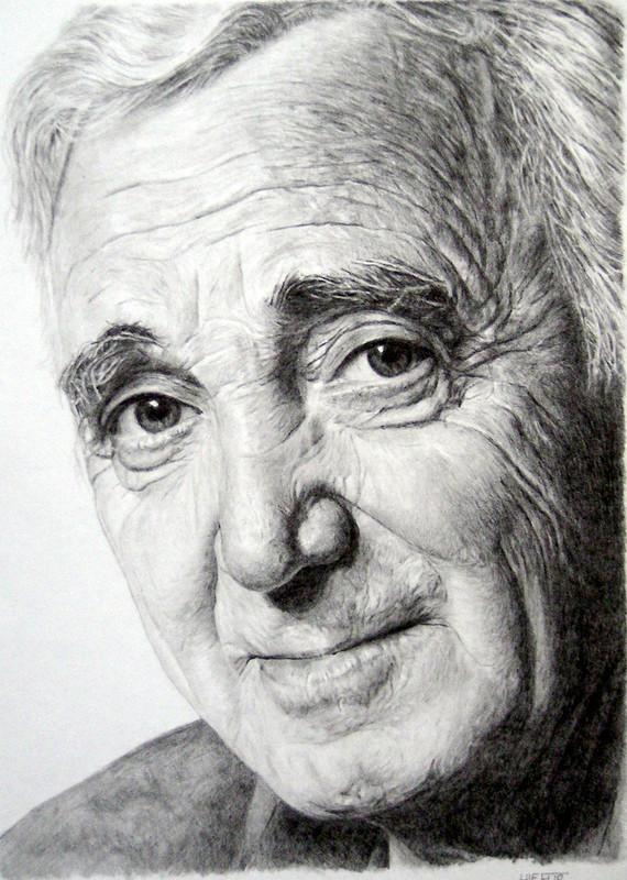 acheter mieux gros en ligne taille 40 Dessin Charles Aznavour