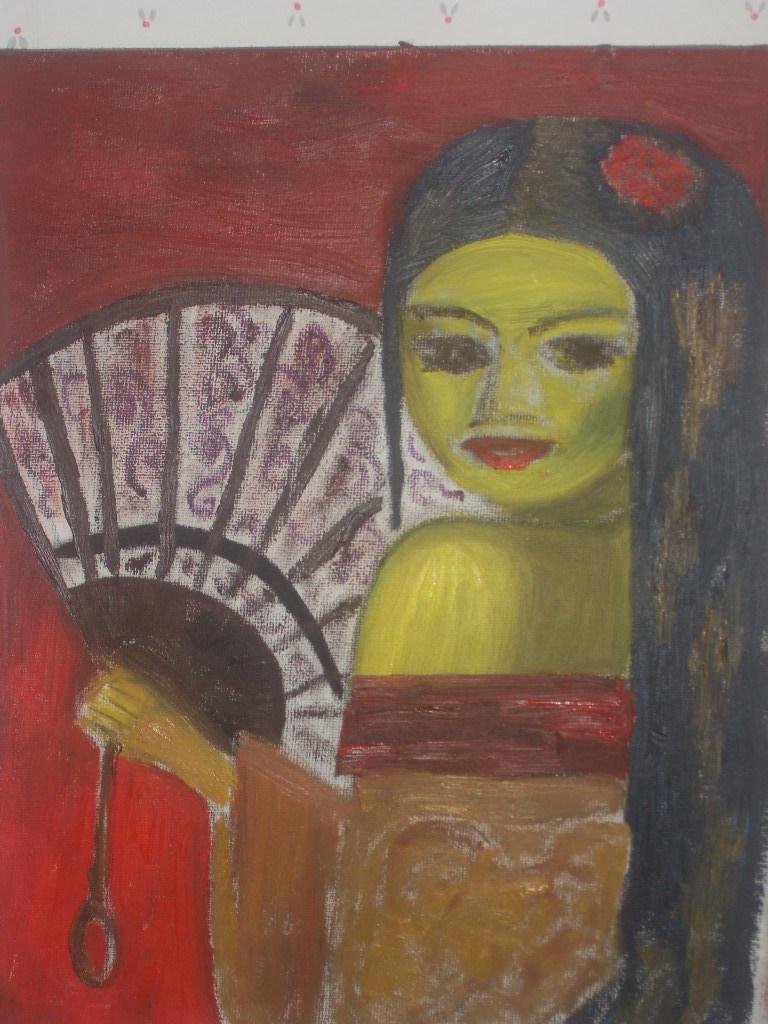 Geisha a l'éventail