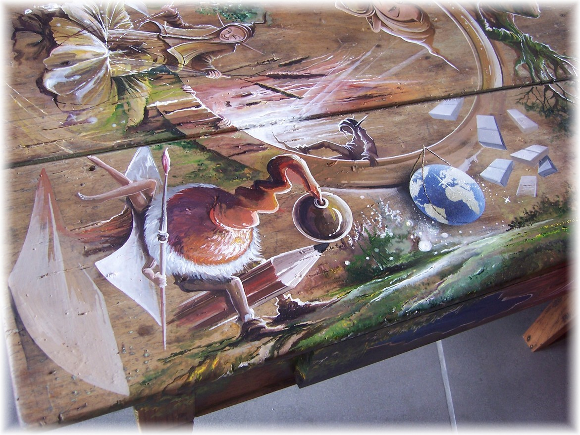 Peinture Mobilier Table Personnalisation Peinture