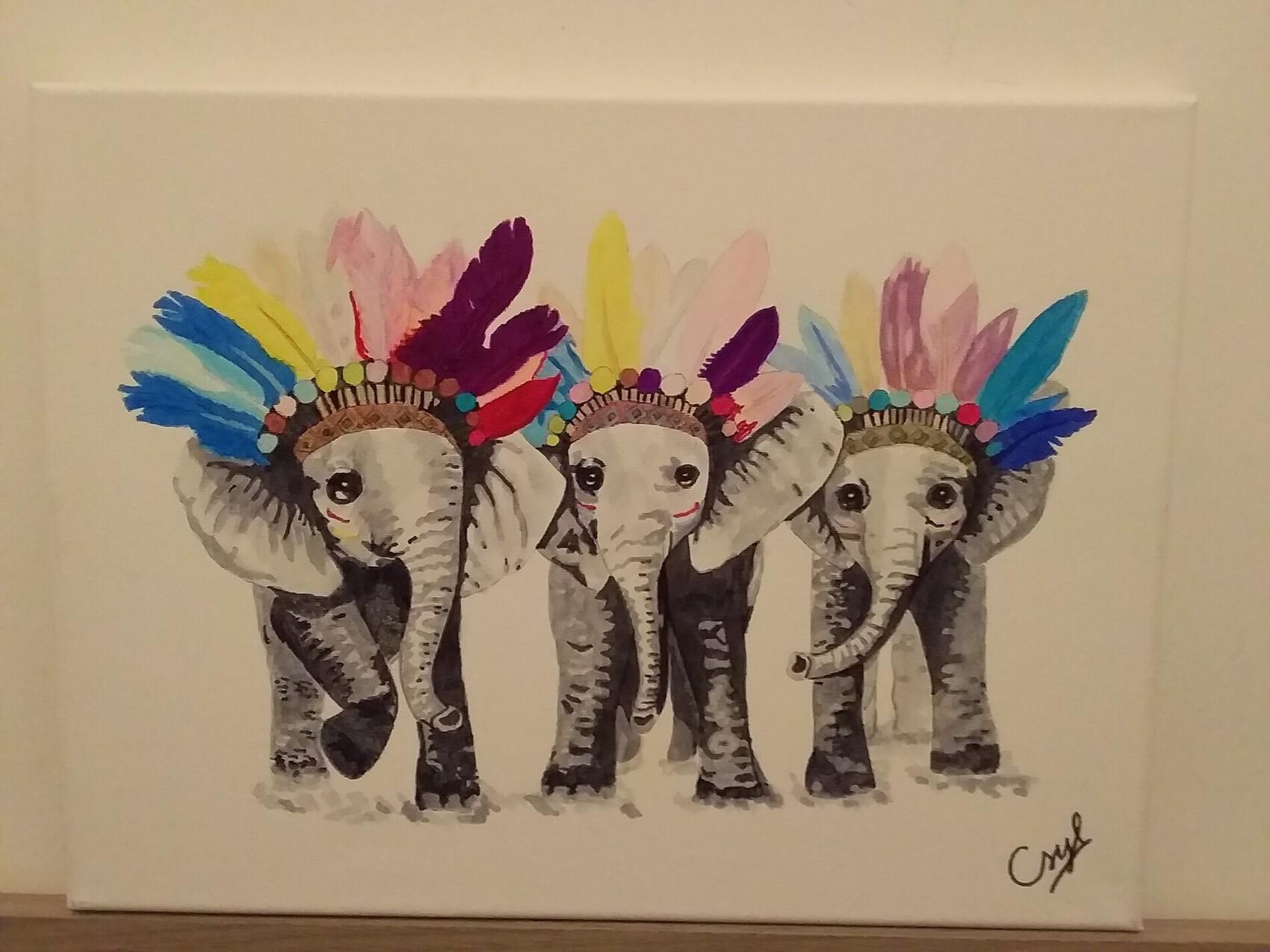3 bébés éléphants