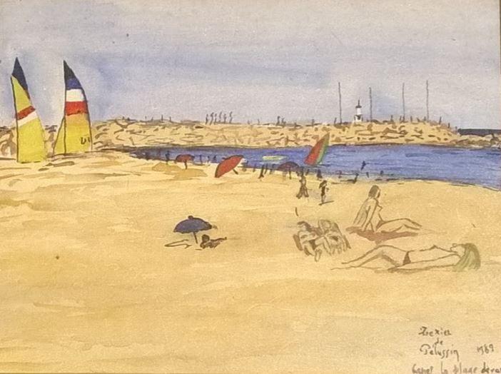 188 Canet en roussillon La plage devant la digue 1989