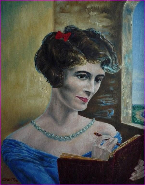 Portrait de Simone F, par P Chalory