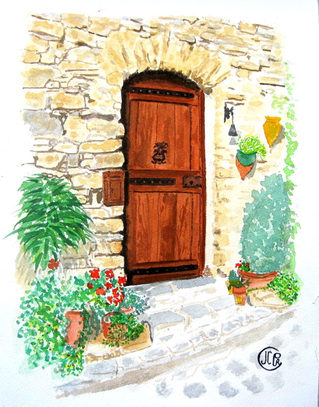 peinture la porte d 39 entr e. Black Bedroom Furniture Sets. Home Design Ideas