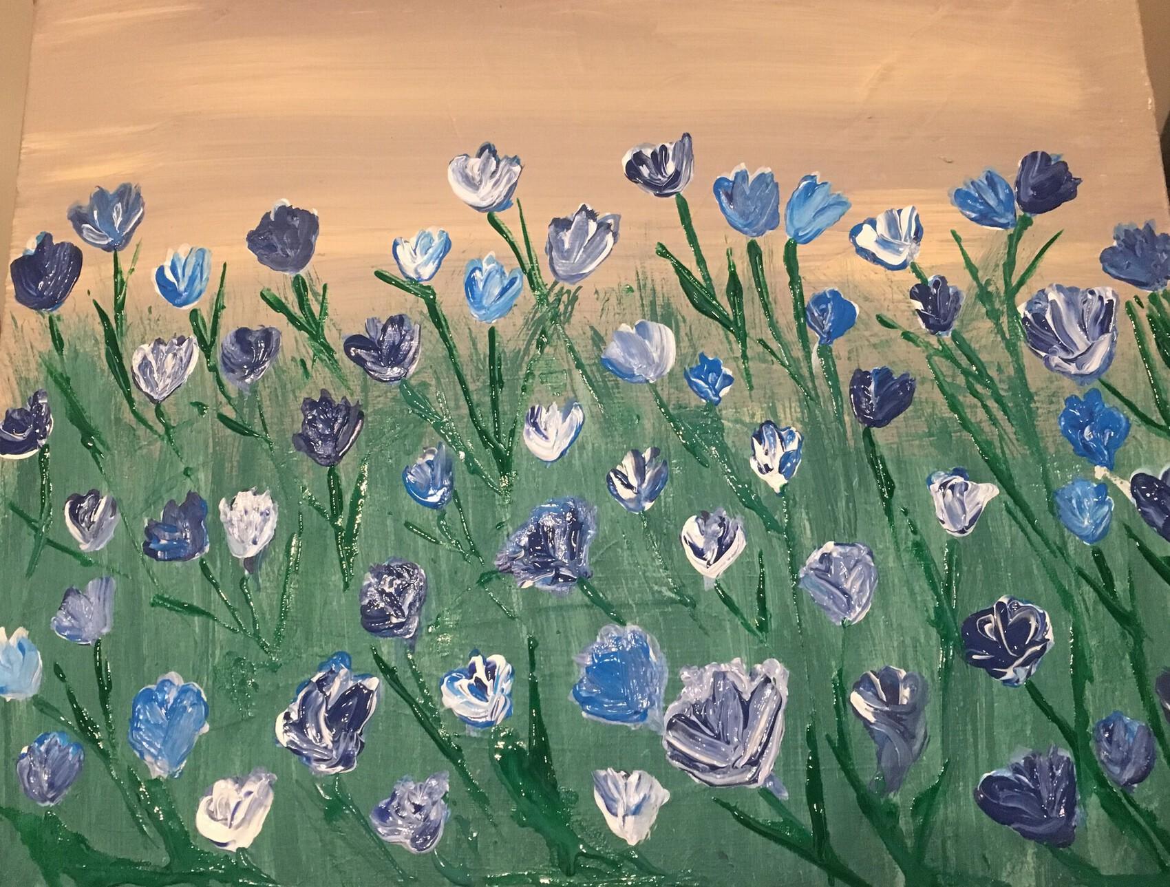Tulipes bleu