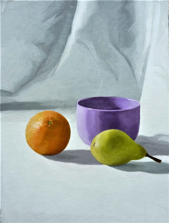 NATURE MORTE au bol et fruits