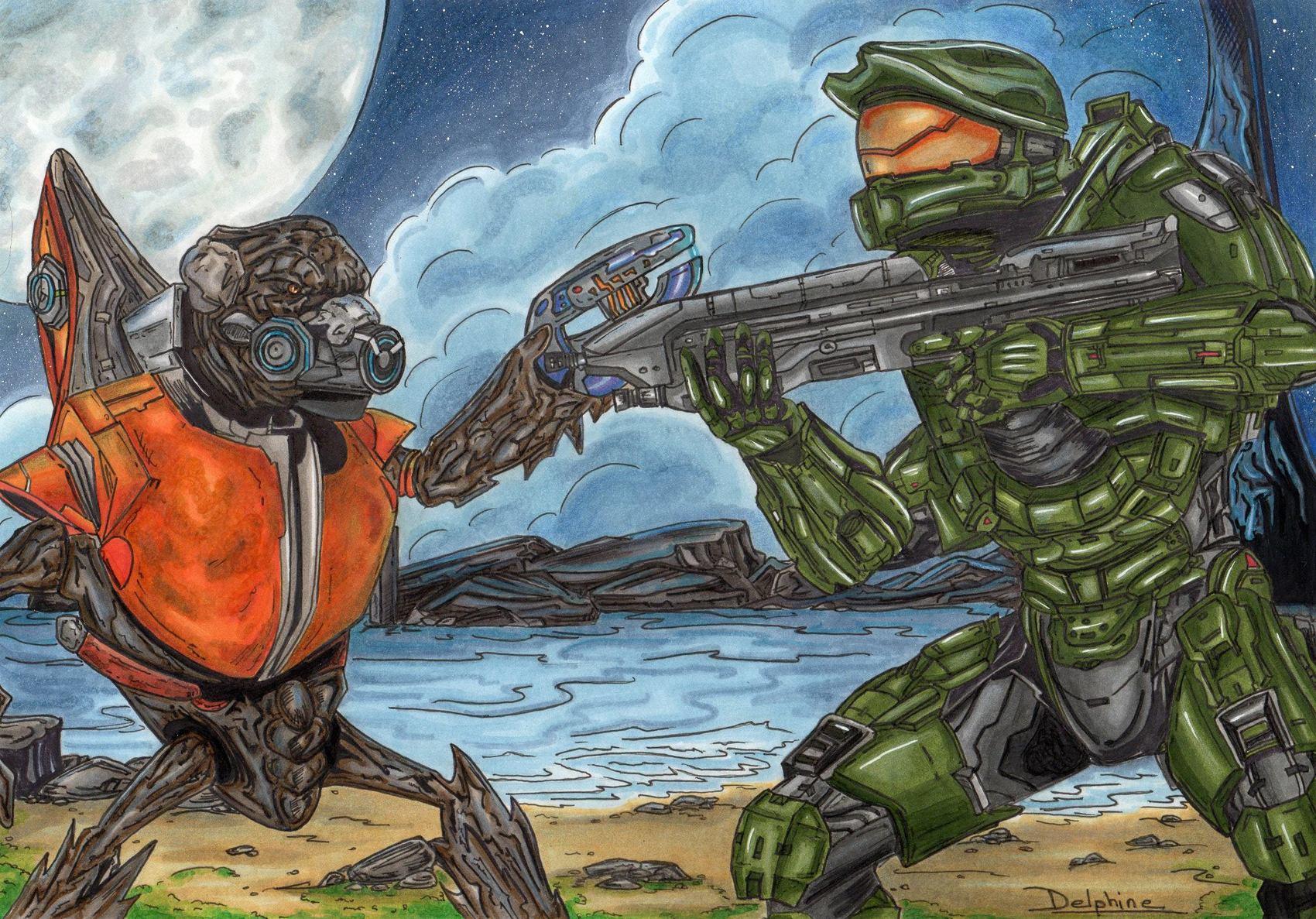 Spartan vs Grunt ***COMMISSION***