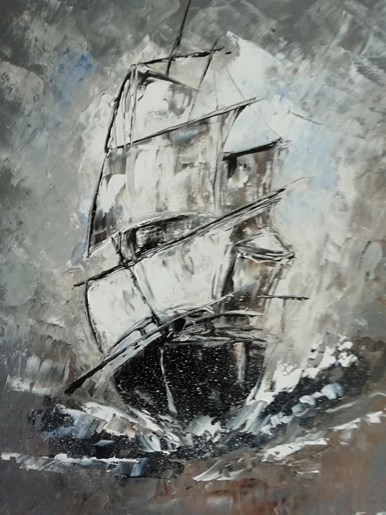 le voilier dans la tempête