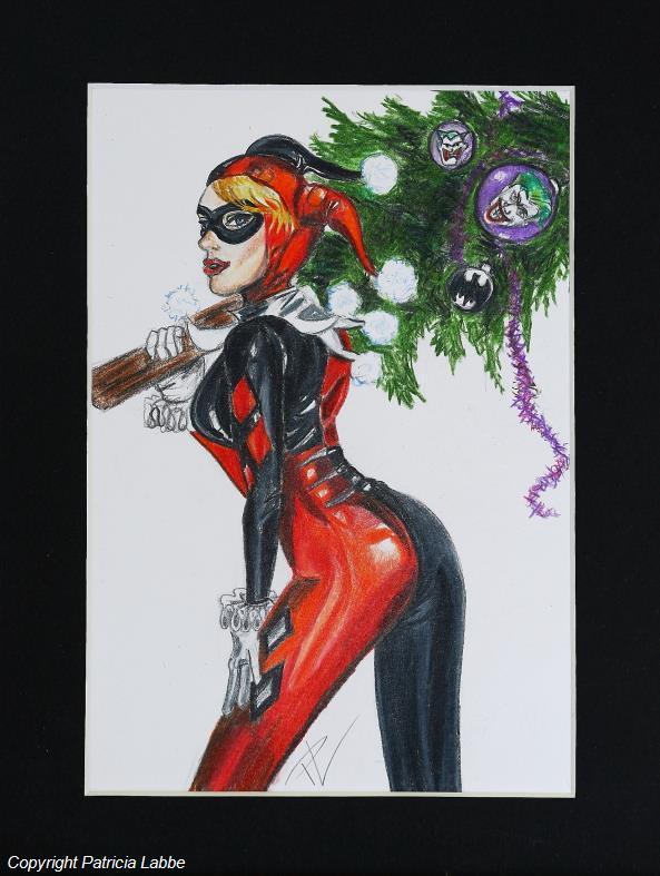 Dessin Harley Quinn Prepare Noel
