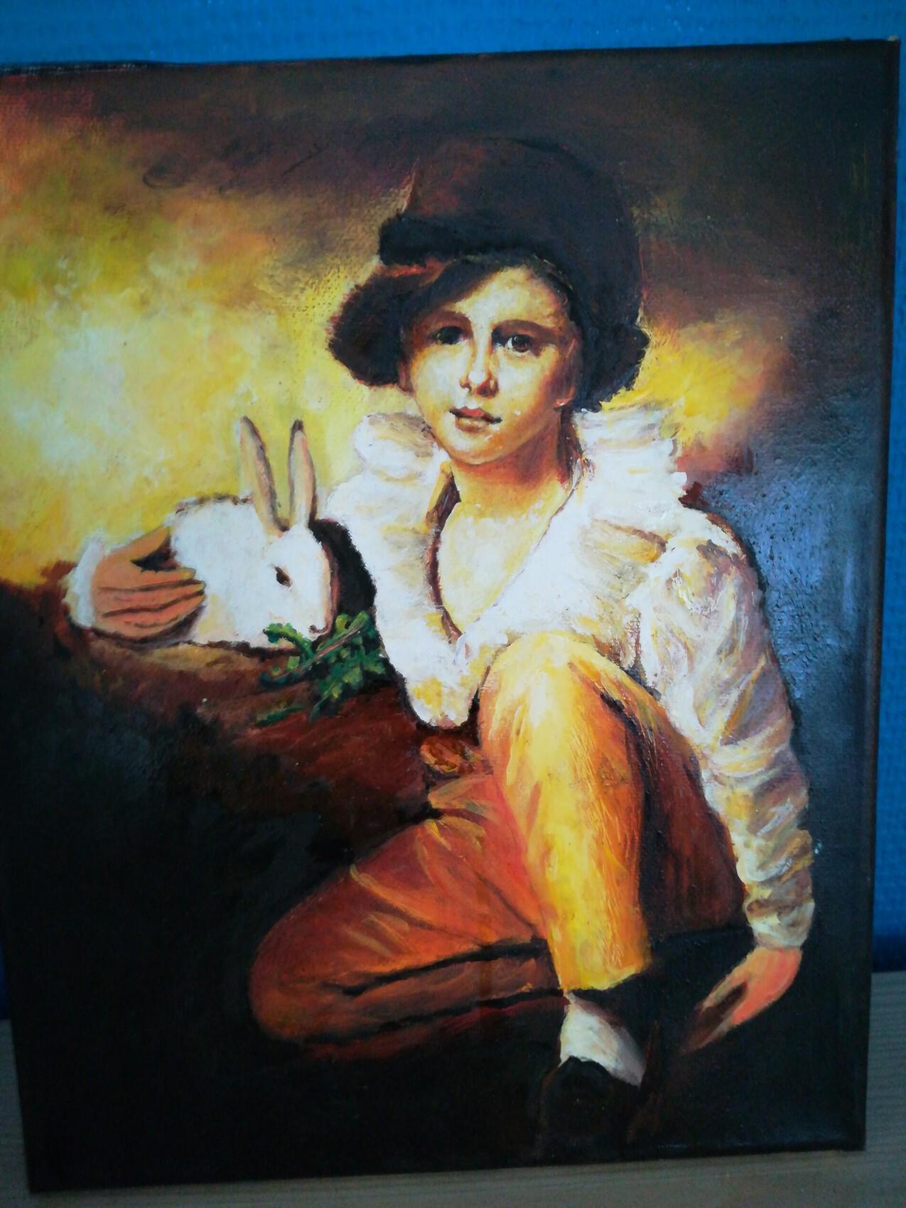 Enfant au lapin