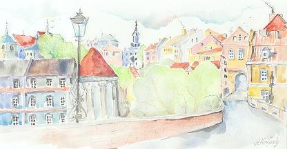 Lublin - une vue d`une porte de la ville.