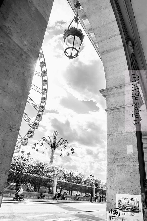 Manège : Vue sur les Tuileries