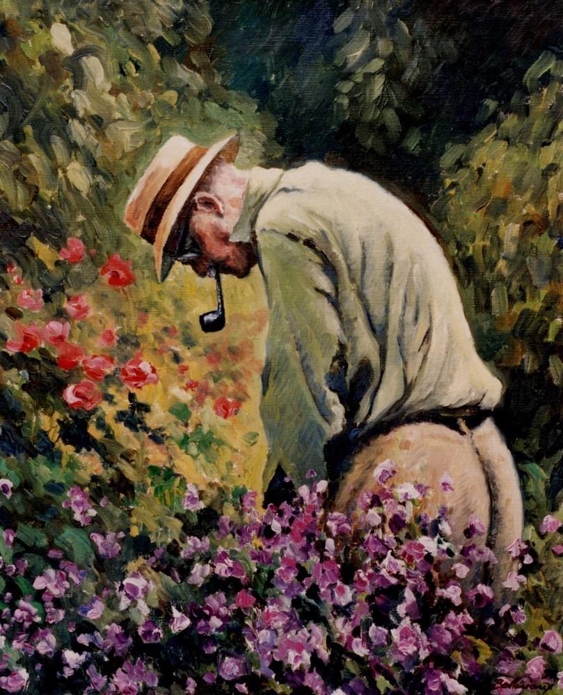 Peinture le jardinier for Le jardinier