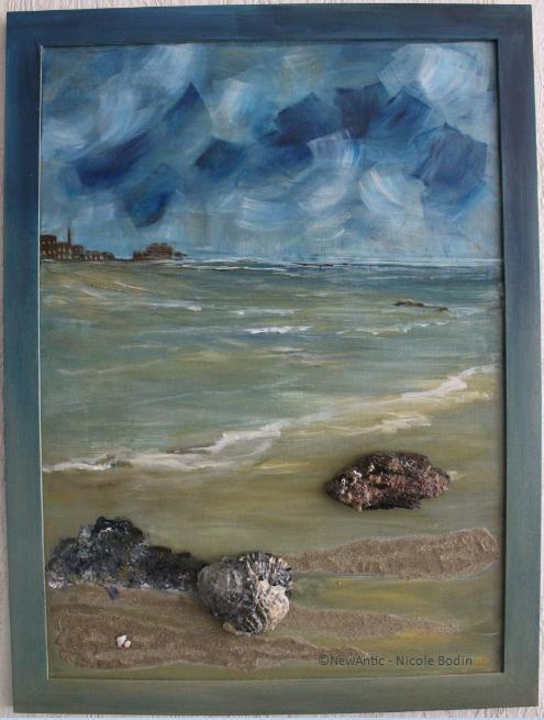 Cœlacanthe en relief à Saint Malo