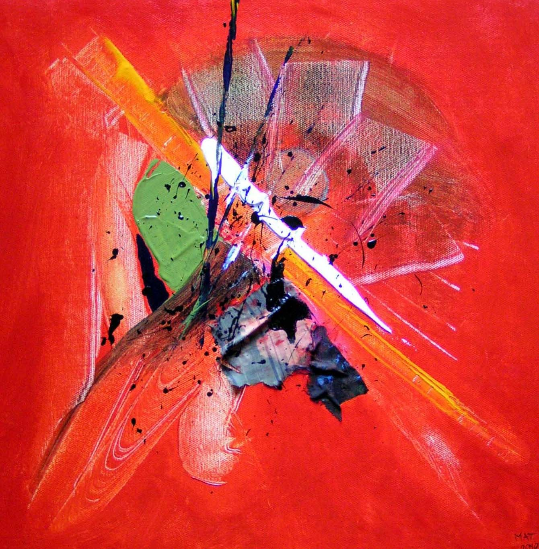 """Super Peinture Tableau abstrait intitulé """"A.M."""" - Artiste peintre  KL21"""